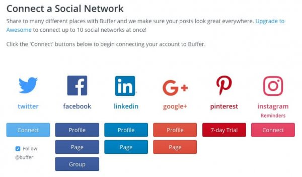HYPE Social Buffer-connect